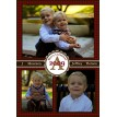 Christmas Photo Collage Houndstooth Printable Holiday Card